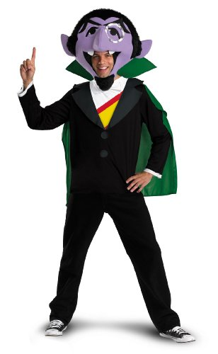 Count Chocula Costume (Disguise Men's Sesame Street The Count Costume, Black/Green/Purple/Yellow/Red,)