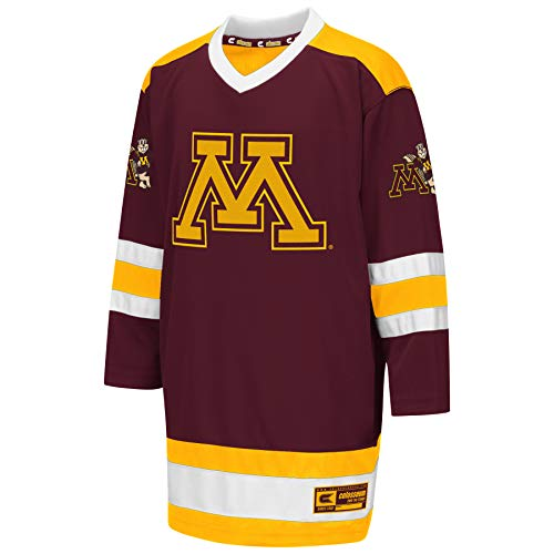 (Colosseum NCAA Youth Boys Athletic Machine Hockey Sweater Jersey-Minnesota Golden Gophers-Youth Medium)