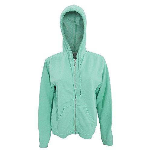 Comfort - Chaquetilla con capucha y cremallera para mujer Verde mar