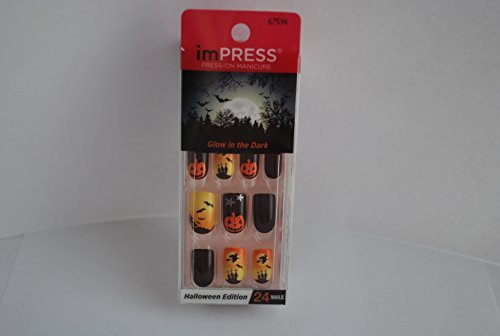 Halloween Nails (Impress Press-on Manicure Glow in the Dark Halloween Edition Nails - Ready-to-Scare)