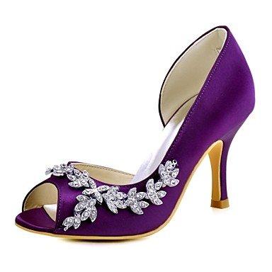 US6 Purple Party 5 Heelivory Stretch Summer Shoes Wedding 7 Basic Women'S Spring CN37 RTRY EU37 Pink Evening Pump 5 5 Crystal Satin Stiletto amp;Amp; Light Wedding UK4 Ruby HcvRW
