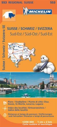 Michelin Schweiz Süd-Ost: Straßen- und Tourismuskarte 1:200.000 (MICHELIN Regionalkarten)