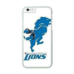 NFL iPhone 6 Plus White Cell Phone Case Detroit Lions QNXTWKHE0963 NFL Plastic Personalized Phone Case Cover