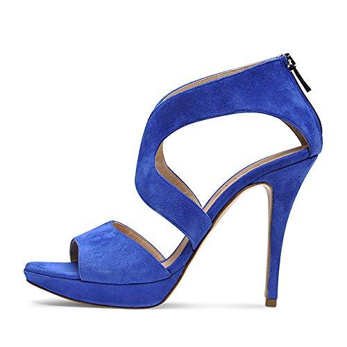 Evita Femme Royal Valeria Daim Shoes Bleu Sandales 42 7wrq71R
