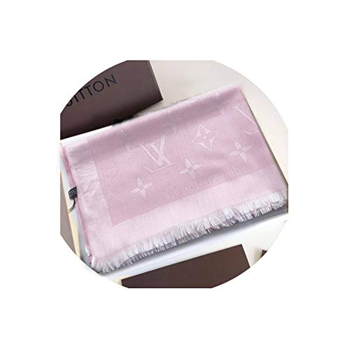 EHOO Fashion Luxury Cashmere/Wool Scarf pink Warm Large long Scarves for Women Men