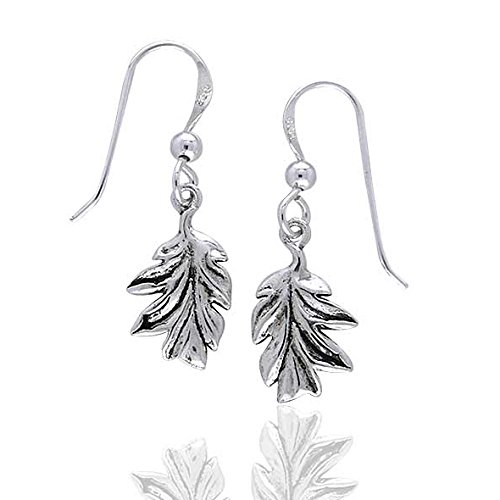 Mighty Oak Leaves - Secrets of the Wood Sterling Silver Tree Leaf Earrings ()