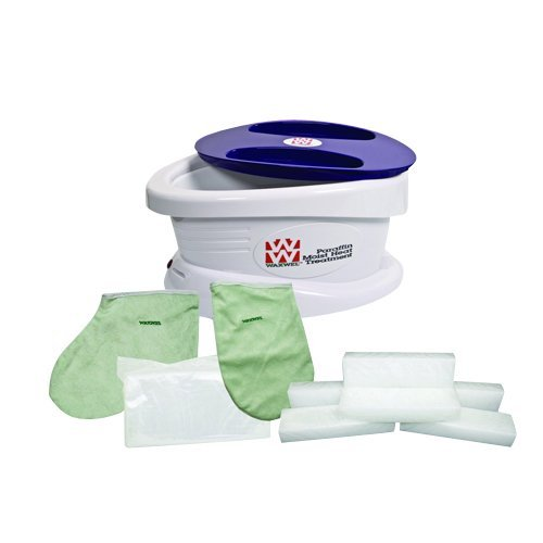 Waxwel Paraffin Wax Bath Unit w/Lavender Kit: Includes 6 lb Lavender Wax, 100 Liners, 1 Mitt, 1 Bootie