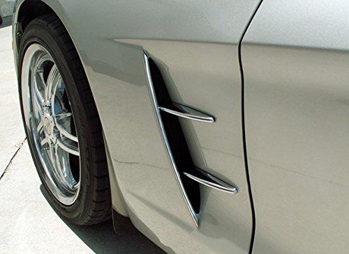 Corvette Side Vent Spears Chrome Retro Style 4Pc 2005-2013 C6 - Stainless Spears Vent