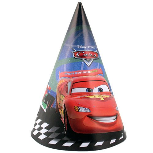 Disney Pixar Cars 2 Party Hats [8 Per Pack]