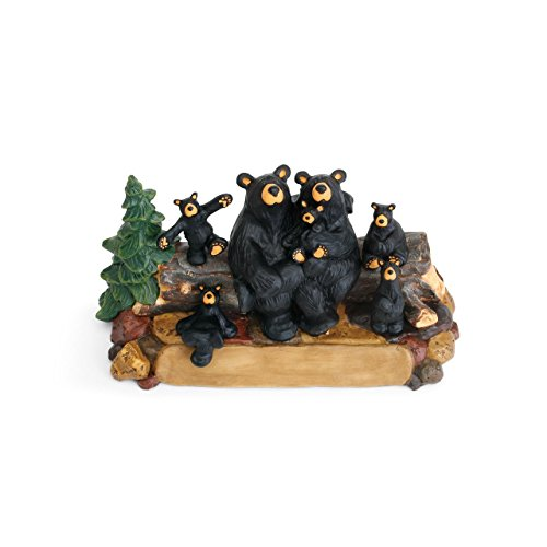 DEMDACO Bear Family Black Bear 4 x 8 Hand-cast Resin Figurine Sculpture