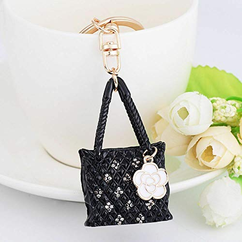 Jewelry Key Ring Key Chain Handbag Ornaments Lover Gifts (Color - Black) ()