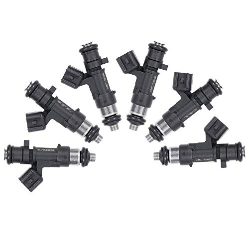 LSAILON Engine Fuel Injectors 6 Pieces Fuel Injector fit for,4Holes Chrysler 300 Town Country Sebring Pacifica,Dodge Avenger Challenger Charger Journey Grand Caravan Magnum Nitro Stratus ()
