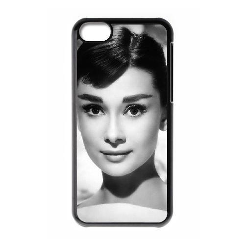 Audrey Hepburn coque iPhone 5C Housse téléphone Noir de couverture de cas coque EBDOBCKCO13343