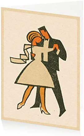 12 x 17 cm ArtPress Vintage Matchbox First Dance Wedding Greeting Card