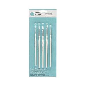 Martha Stewart Crafts 32247 Martha Stewart Detailing Brush Set, White