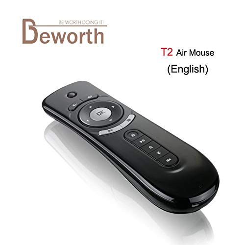 1f03b37b1ea Calvas Fly Air Mouse T2 Remote Control 2.4GHz Wireless Gyroscope Keyboard  Stick For 3D Sense Game PC Android TV Box Google TV Player T3 - (Color: T2  Air ...