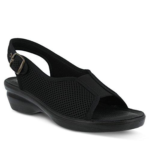 Flexus Dames Lichtgewicht Slingback-sandalen Zwart