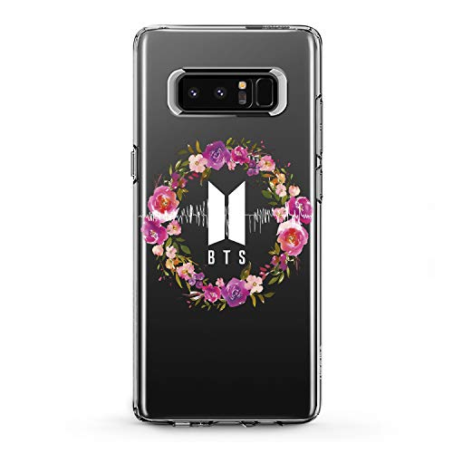 Lex Altern TPU Case for Samsung Galaxy A9 A8s A8 A7 A6s A5 A70 A50 Floral BTS Design Smooth Gift Korean Music Girl Print Clear Men Slim fit Soft Flexible Boy Lightweight Cover Popwave Woman Black -