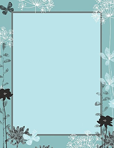 Great Papers! Blooming Silhouettes in Sky Letterhead, 80 Count, 8.5