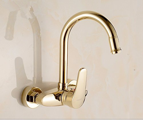 A2 Hlluya Professional Sink Sink Sink Mixer Tap Kitchen Faucet The wall faucet hot and cold dishes golden kitchen faucet wash basin sink flush mount laundry pool faucet,A1 479900
