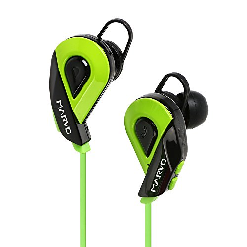 MARVO Bluetooth earphone,Stereo Hands Free Waterproof Bluetooth Headphones, Bluetooth 4.1 Wireless Sweatproof IN-Ear Bluetooth Earbuds, 8 Hours Playing Time for Sport and Gym,CB-AM01