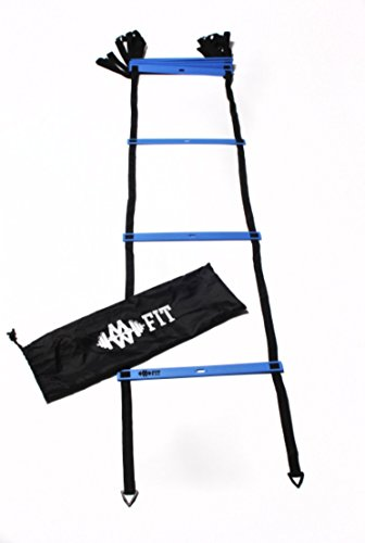 MWFit 12 Rung Agility Ladder (Blue) by MWFit