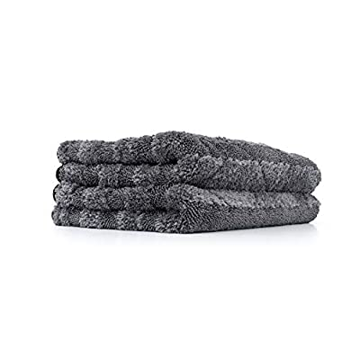 The Rag Company - The Gauntlet Microfiber Drying Towel - 15in x 24in - Grey (2-Pack): Automotive