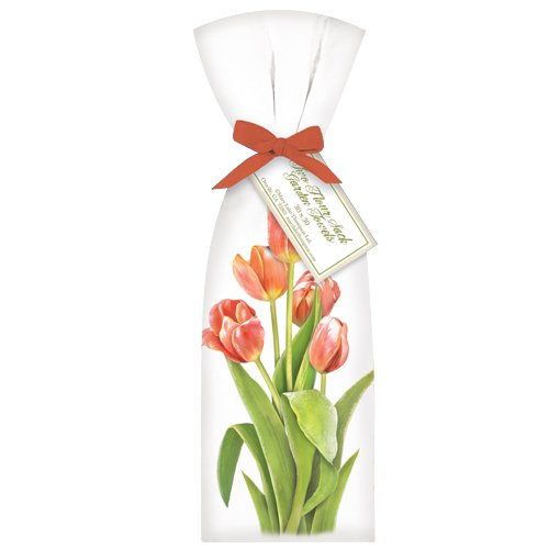 (Pink Tulips Towel Set)