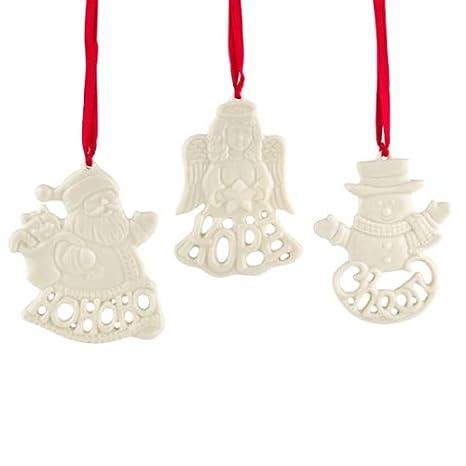 Lenox Christmas Ornaments.Lenox Holiday Greetings Christmas Ornaments Set Of 3