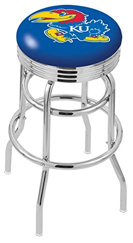 Chrome Seat Ring Bar Stool (NCAA University of Kansas 30