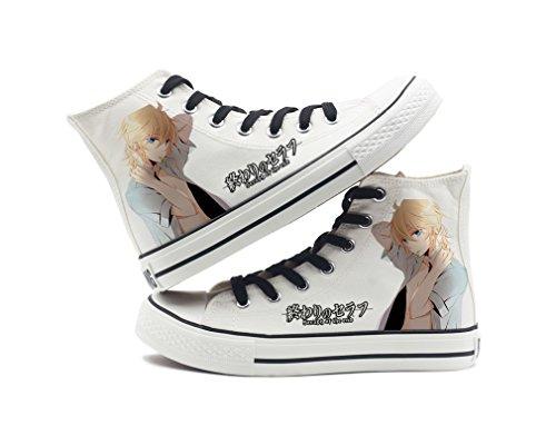 Seraph De La Fin Anime Chaussures De Toile Cosplay Chaussures Sneakers Noir / Blanc Blanc 1