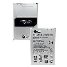 Genuine OEM 3000mAh / EAC62858501 LG Battery BL-51YF Metallic Gray for LG G4 H815T H818P DS1402 G Stylo G Stylo LTE G Stylus HDTV Dual SIM G4 Dual SIM G4 Dual-LTE G4 Note G4 Pro in a Non-Retail Pack