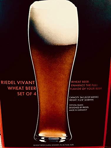 Riedel Vivant Beer Glasses Set of 4 -