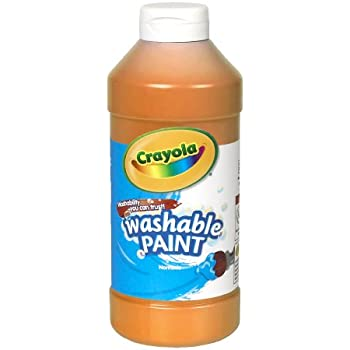 Crayola; Washable Paint, Orange; Art Tools; 16-Ounce Plastic Squeeze Bottle, Bright, Bold Color