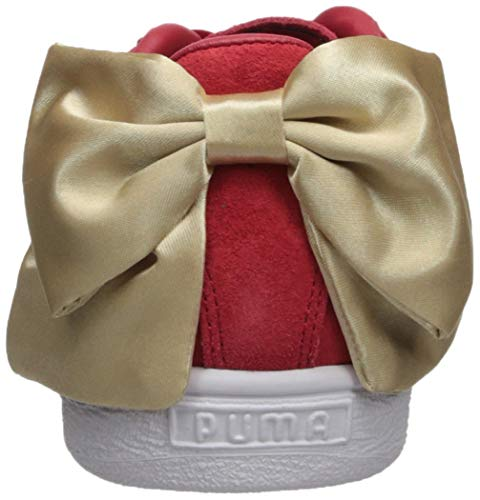 Varsity Zapatillas Talla blanco 5 Bow – 37 Wn´s Suede dorado Puma Rojo wzFqfgxFIr
