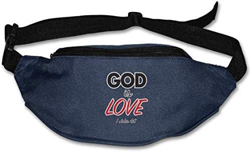 God Is Loveユニセックスアウトドアファニーパックバッグベルトバッグスポーツウエストパック