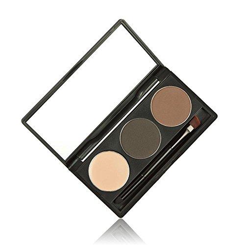 ABASSKY Makeup 3 Colors Eyebrow Powder Concealer Palette Wit