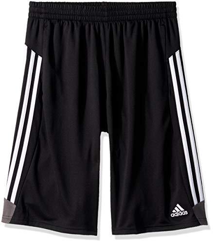 Adidas Boys' Big Athletic Basketball Short, Krft Black/Grey, - Shorts Basketball Cloth