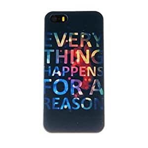 LIMME ships in 48 hours Beautiful English Letters Pattern PC Hard Case for iPhone 5/5S