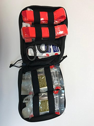 Stop The Bleed Pro School Facility Trauma First Aid Kit w/2 High Visibility Orange CAT ()