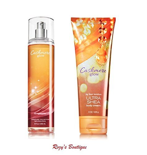 Bath & Body Works - Signature Collection – Cashmere glow - Gift Set- Fine Fragrance Mist 8 FL Oz & Ultra Shea Body Cream 8 Oz