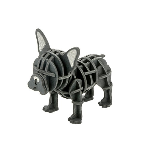 JIGZLE French Bull 3D Paper Puzzle DIY Kit - Laser Cut Miniature ()