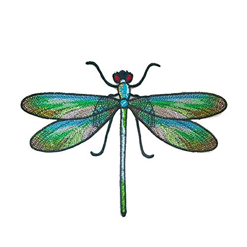 Cratone Cloth Stickers Applique Patches Dragonfly Embroidered Patches Iron on for Jeans Clothes