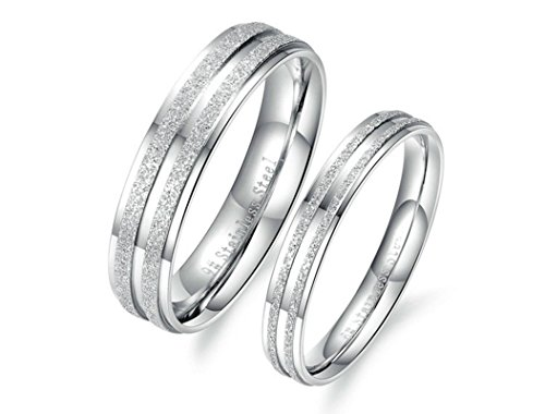 Beydodo 1PCS Stainless Steel Ring 10 5MM Width Wedding Rings Mens Love Ring Band 5mm Stainless Steel Spin Ring