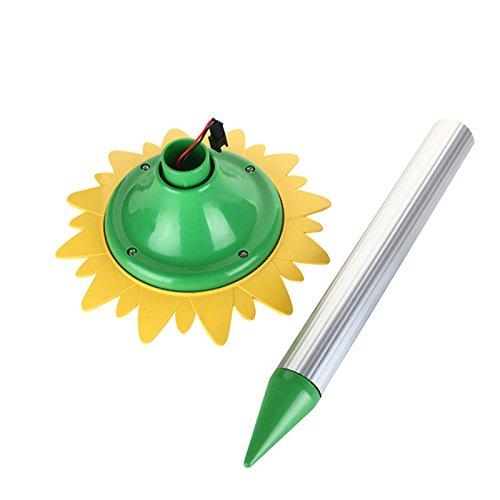Moonvvin Lovely Sunflower Shape Pest Repeller Energy-saving Solar Ultrasonic Wild Animal Control for Mouse Insect Snake
