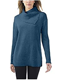 Ladies Wool Cashmere Sweater (Small, Dusty Teal)