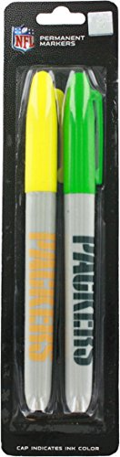 Set of 2 Football Themed Permanent Markers! Cap Indicates Color - 5.5