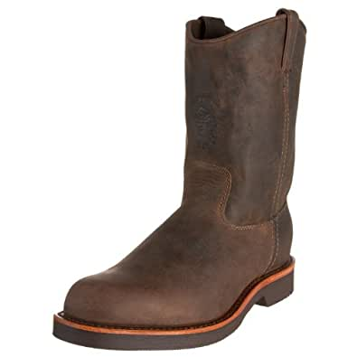 """Chippewa Men's 20075 10"""" Rugged Handcrafted Pull-On Boot,Chocolate Apache,7 D US"""