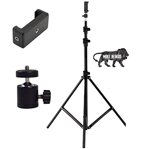 VOICETEL Portable Foldable Tripod Flash Light Stand Photo Video Studio Lighting Photography Stand- 7.5 ft