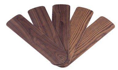 Wellington 7741500 52-Inch Oak/Walnut Replacement Fan Blades, Five-Pack